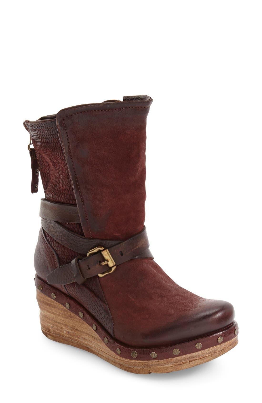 Main Image - A.S.98 Stamford Platform Wedge Boot (Women)