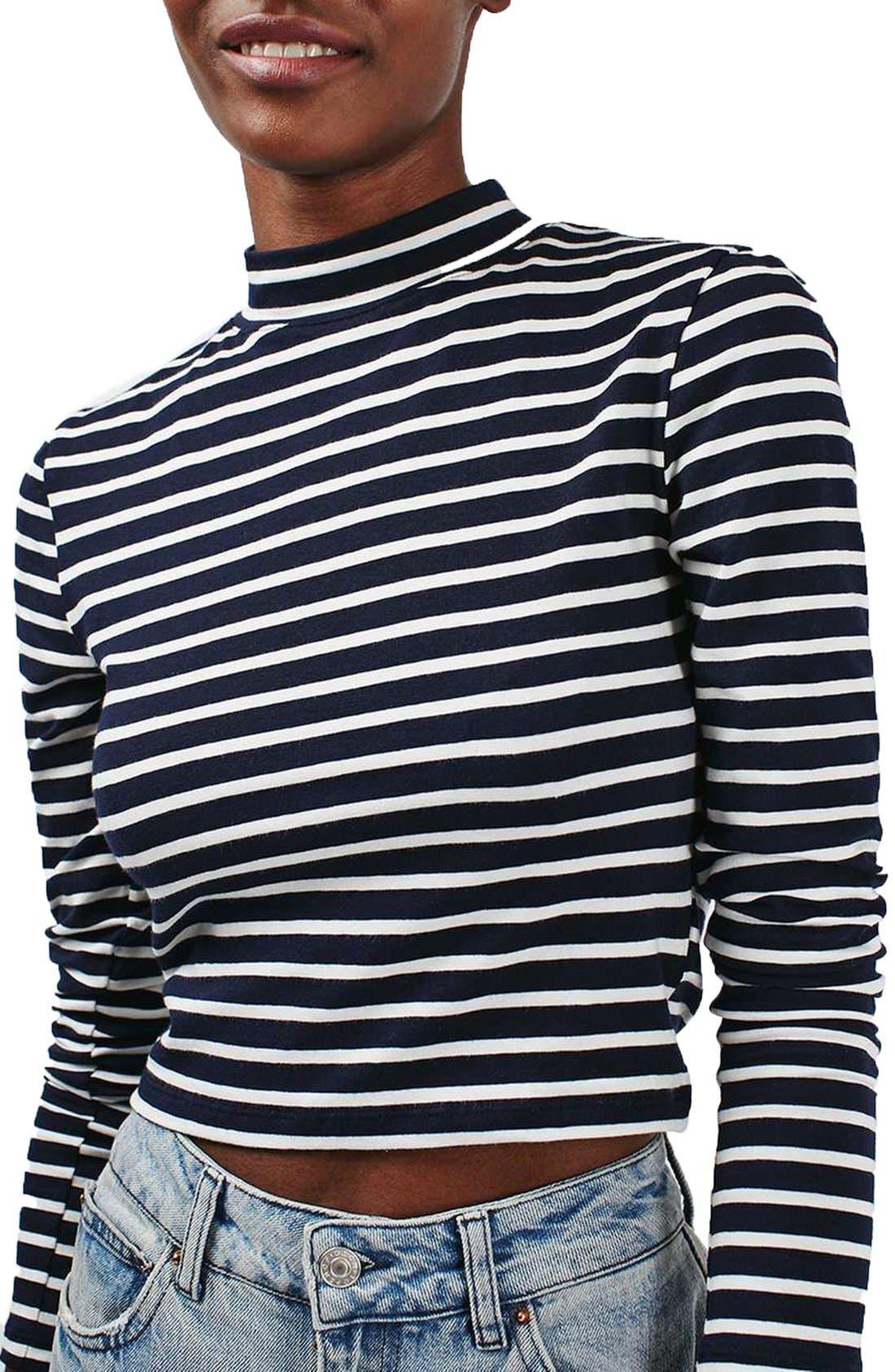 Alternate Image 4  - Topshop Stripe Funnel Neck Top