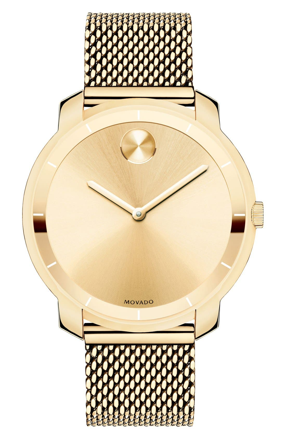 'Bold' Mesh Strap Watch, 36mm,                         Main,                         color, Gold