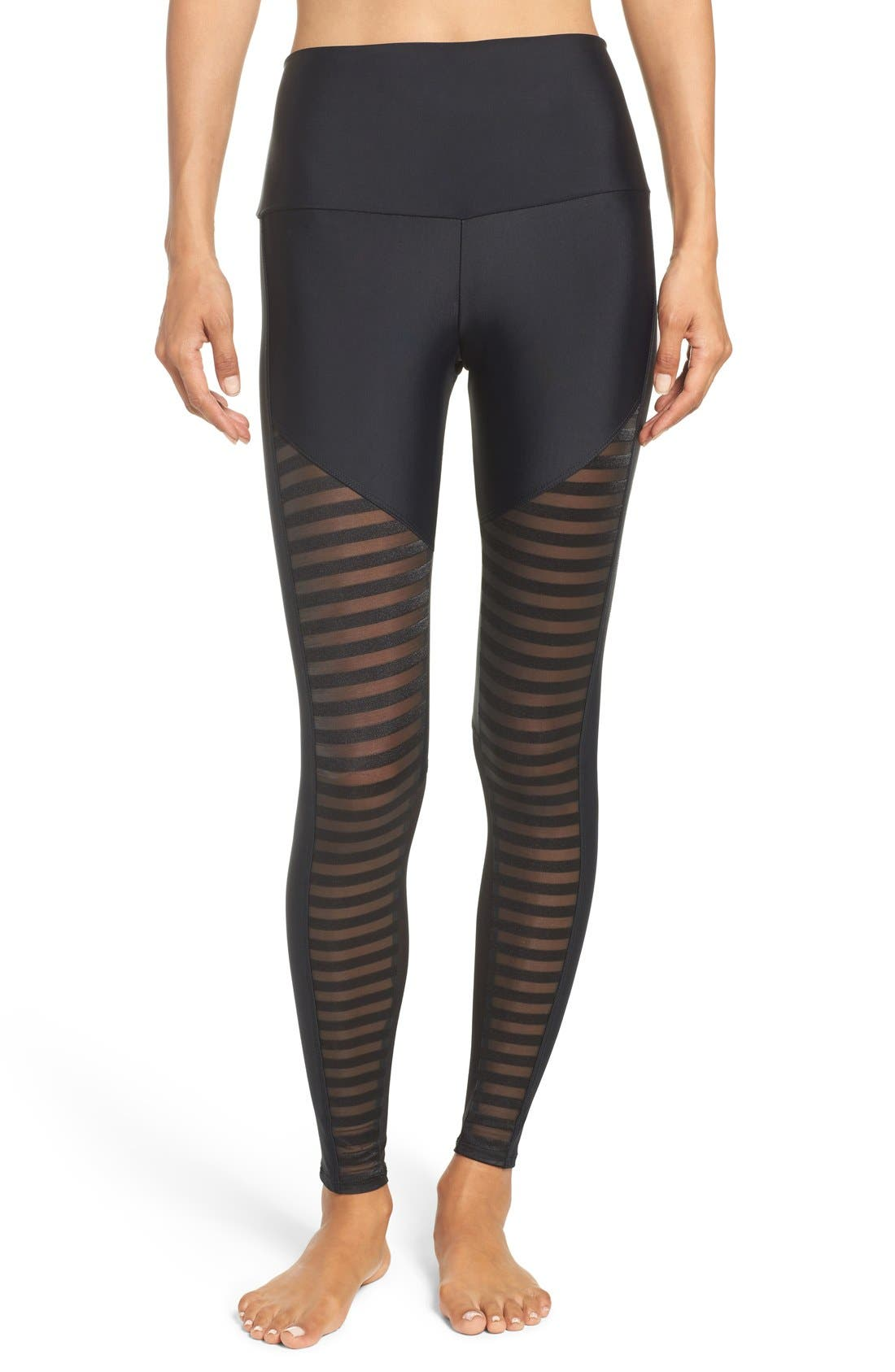 Fierce Leggings,                         Main,                         color, Black Stripe