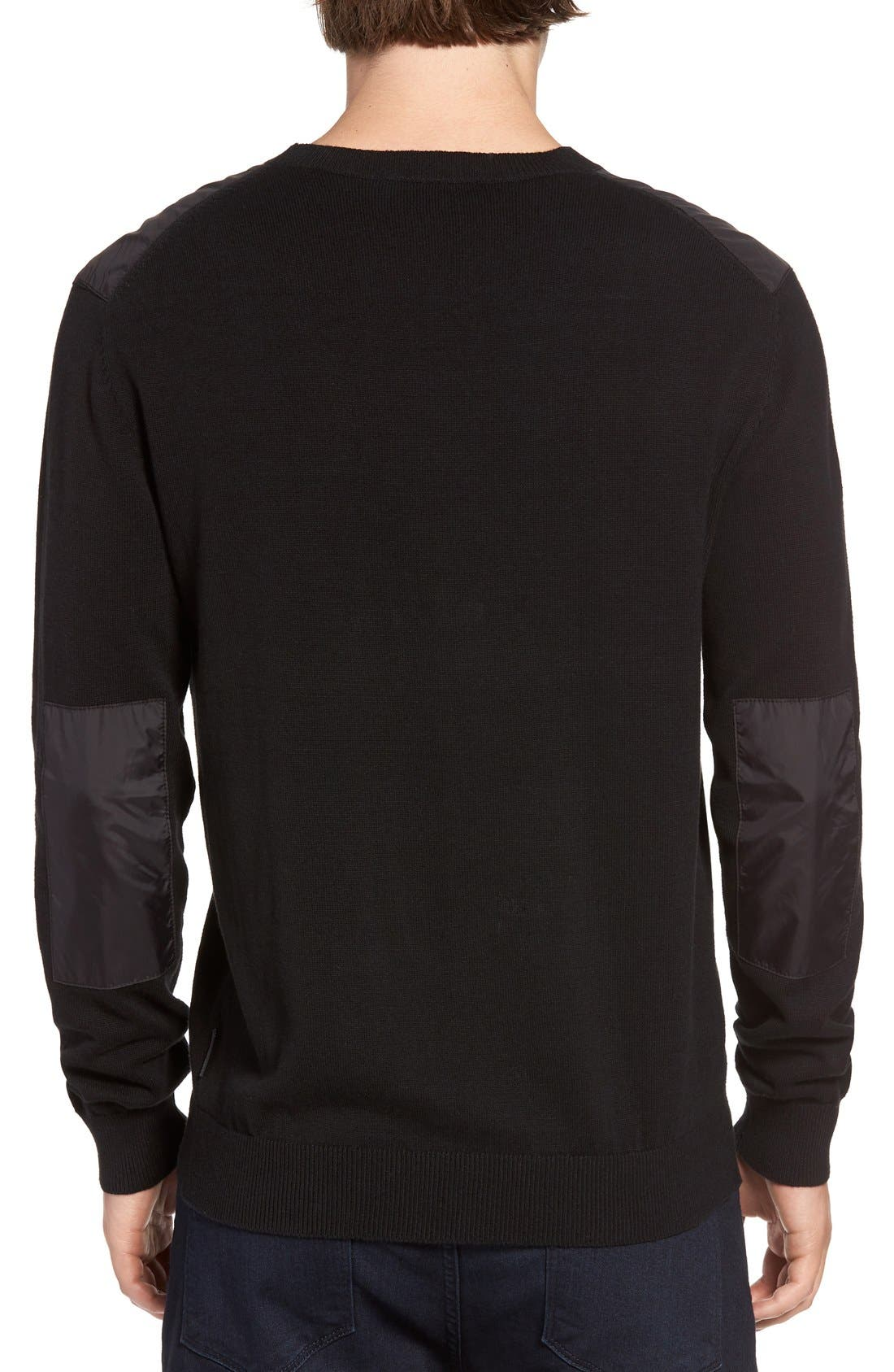 Alternate Image 2  - French Connection Nylon Trim Pullover
