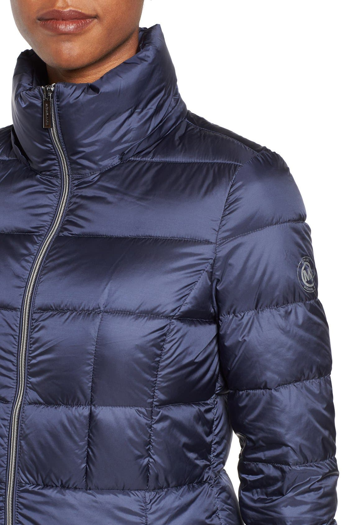 Packable Down Coat,                             Alternate thumbnail 4, color,                             Dark Blue