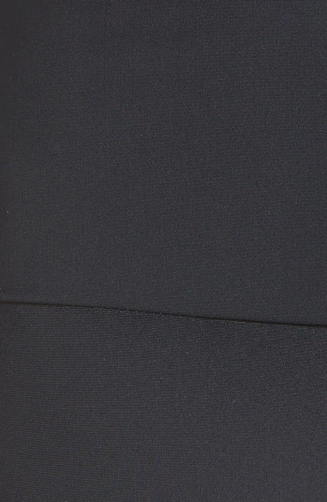 Fierce Leggings,                             Alternate thumbnail 6, color,                             Black Stripe
