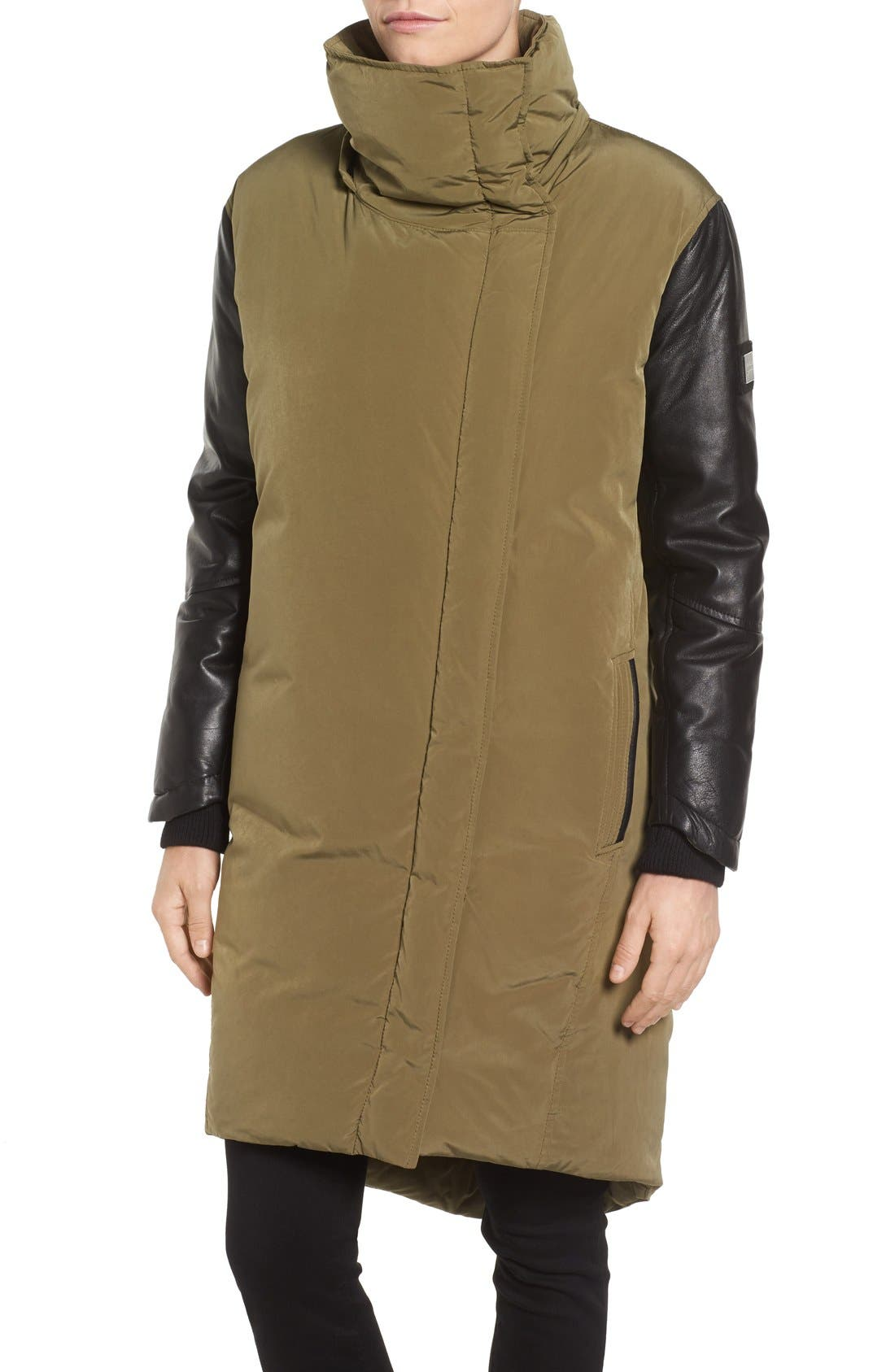 Alternate Image 4  - LAMARQUE Oversize Down Coat with Leather Trim