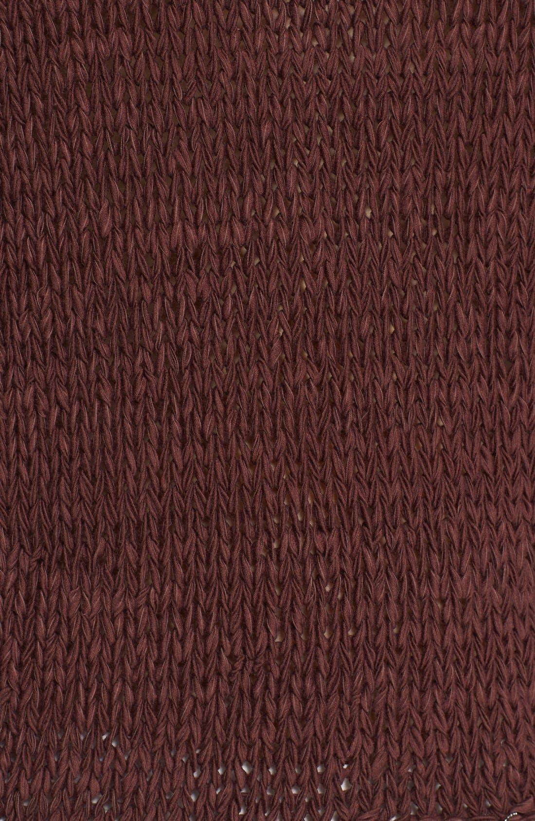 Alternate Image 3  - Fabiana Filippi Mollini Trim Cotton Blend Sweater