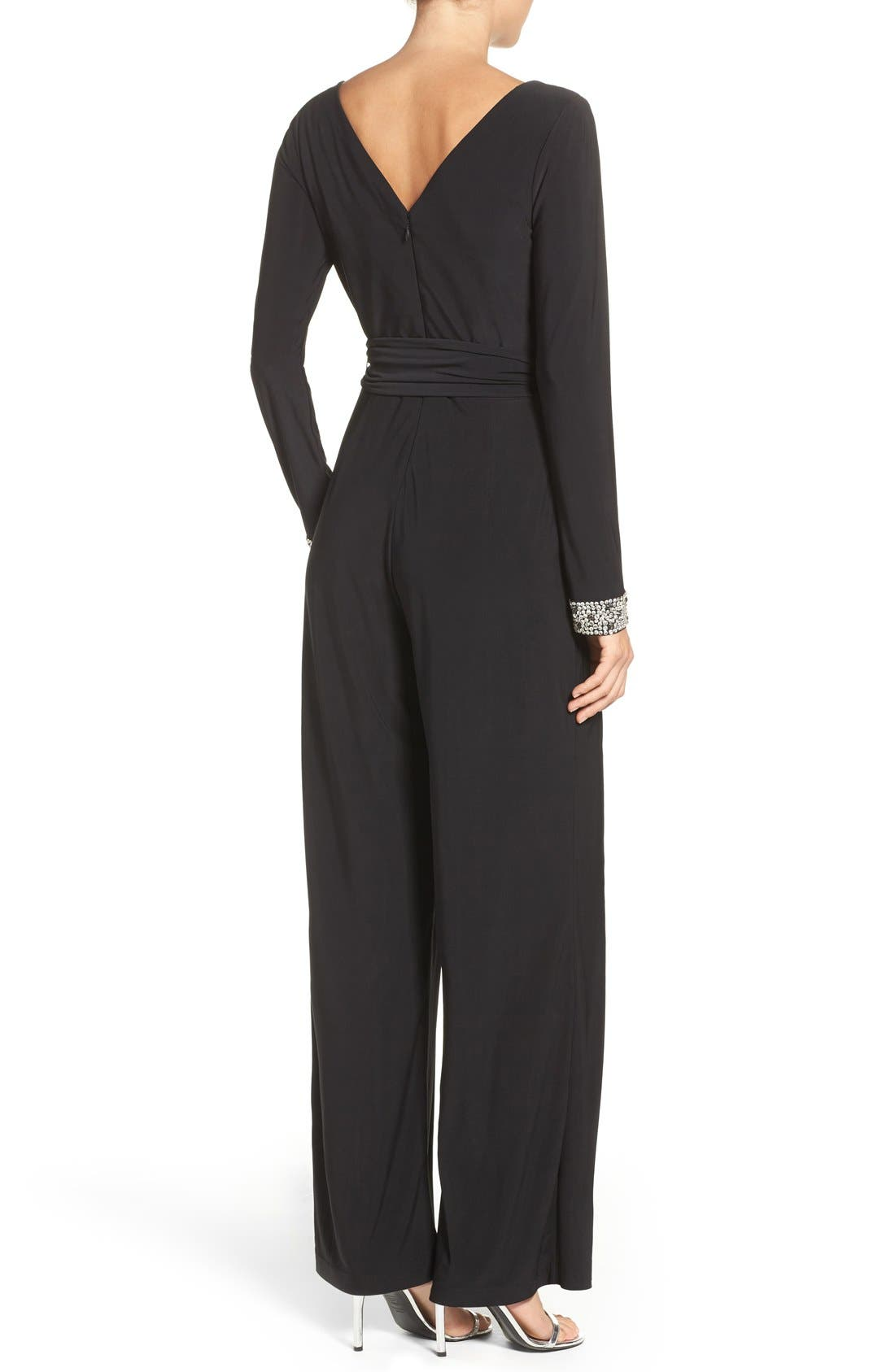 Alternate Image 2  - Vince Camuto Embellished Wide Leg Jumpsuit