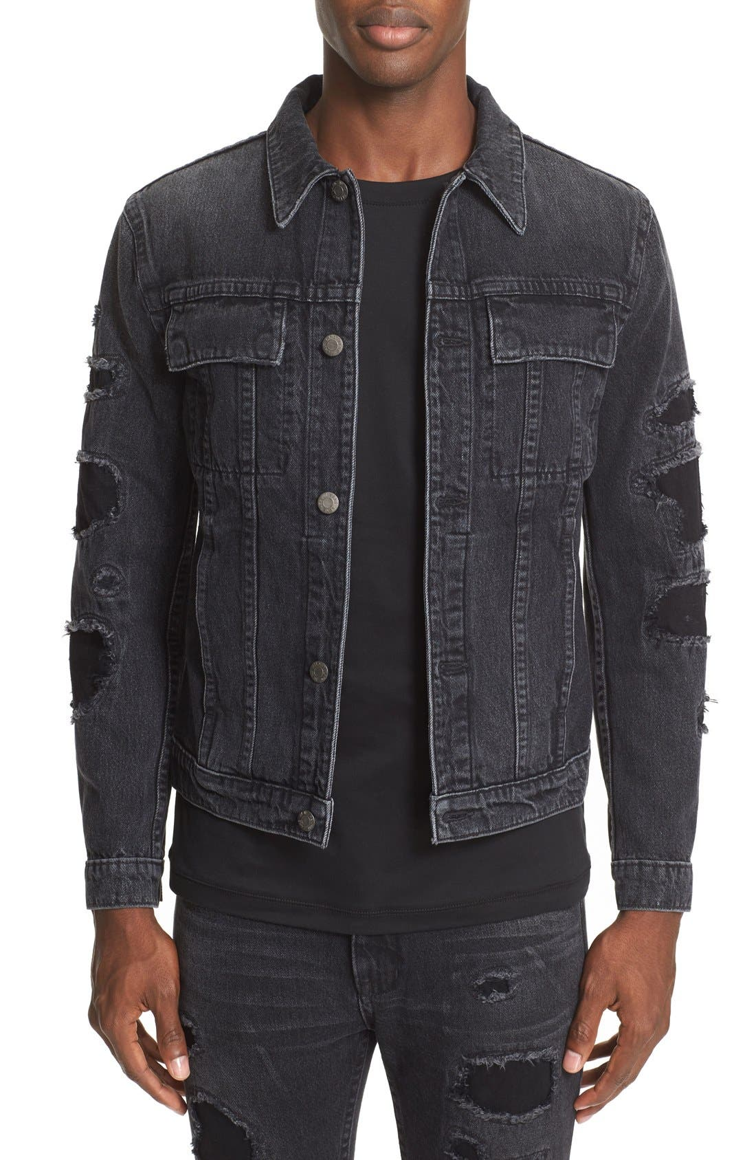 HELMUT LANG MR87 Destroyed Denim Jacket
