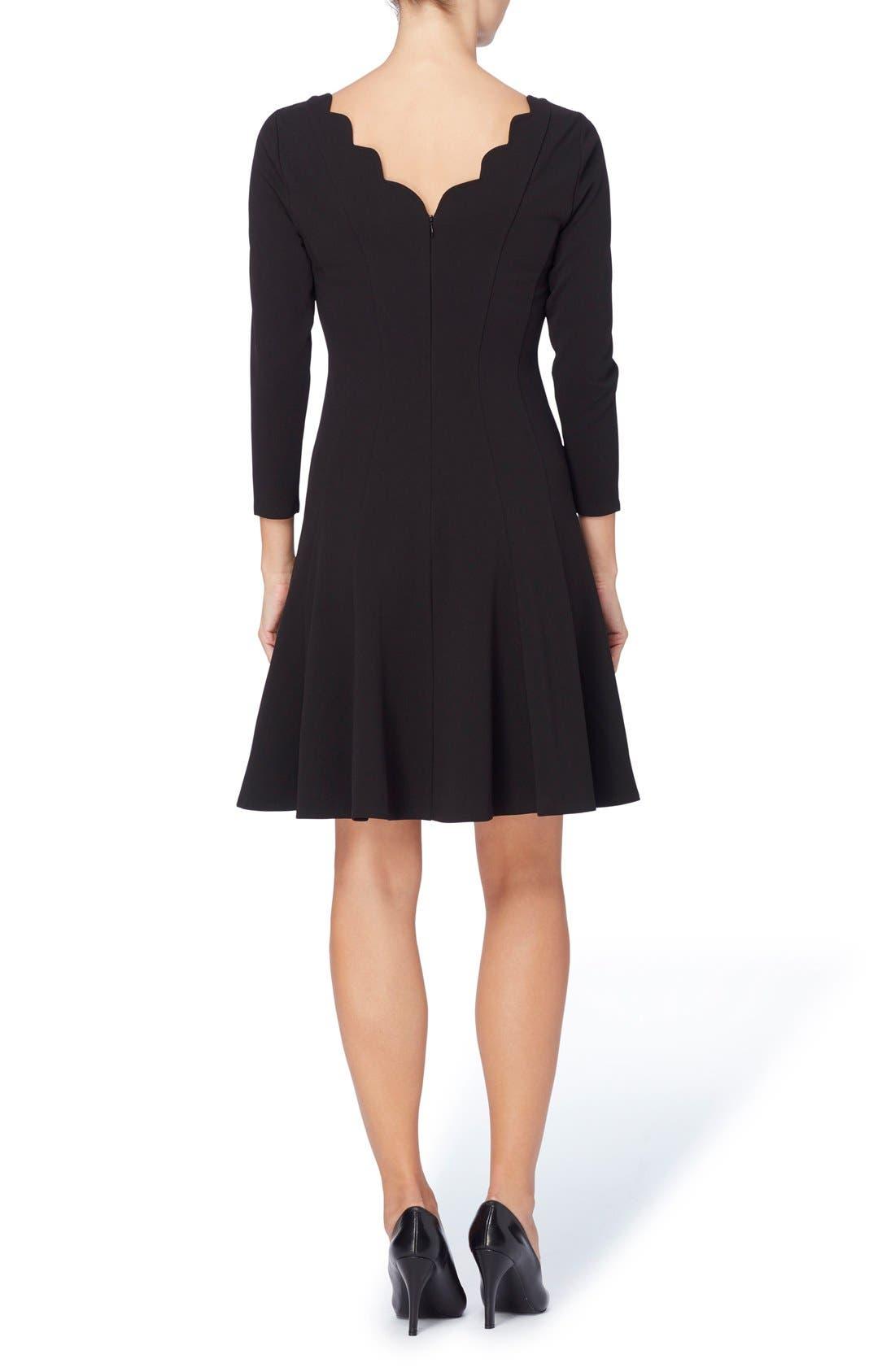 Linova Fit & Flare Dress,                             Alternate thumbnail 2, color,                             Blackbird