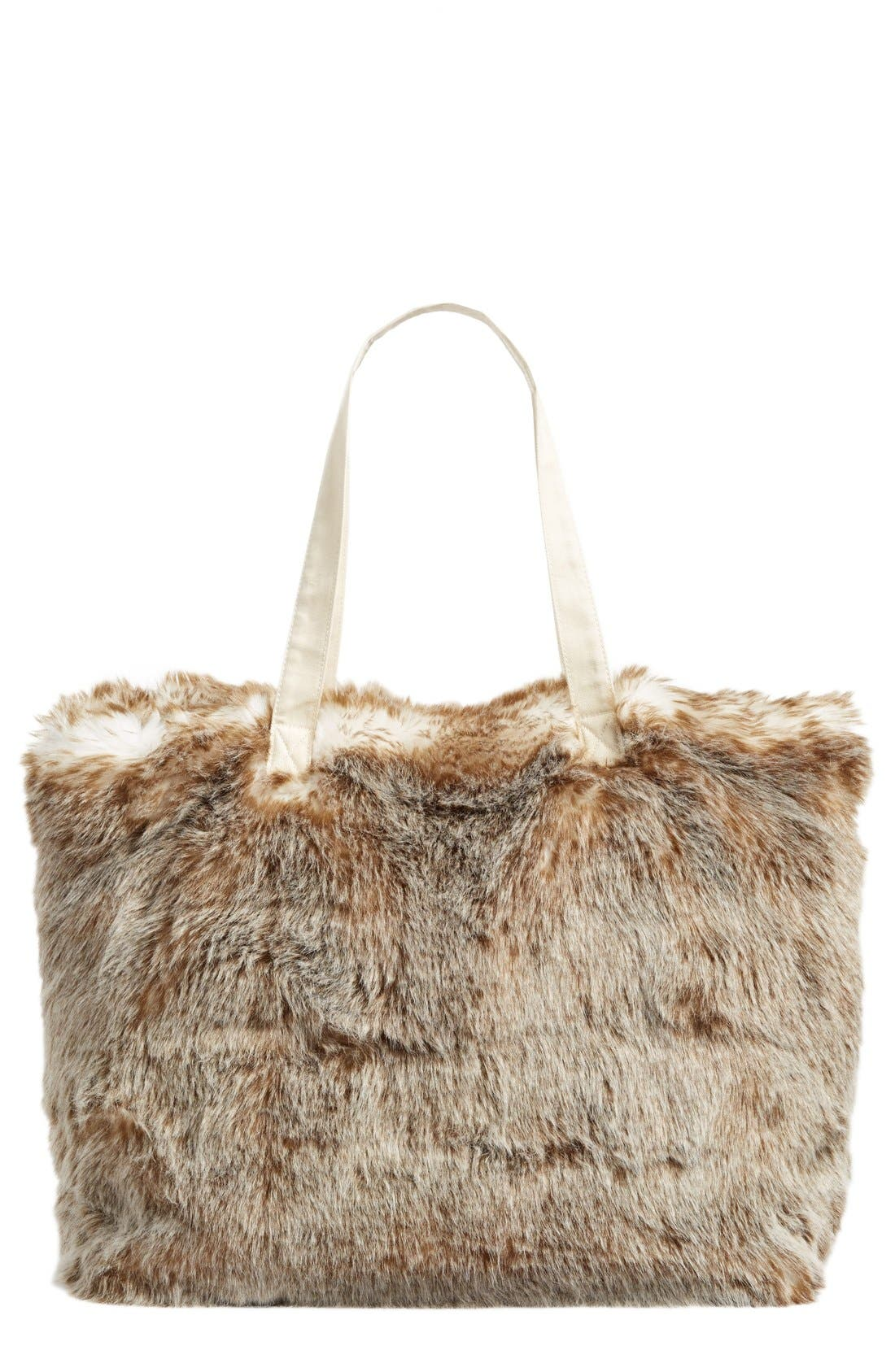Alternate Image 1 Selected - Nordstrom at Home Cuddle Up Faux Fur Tote