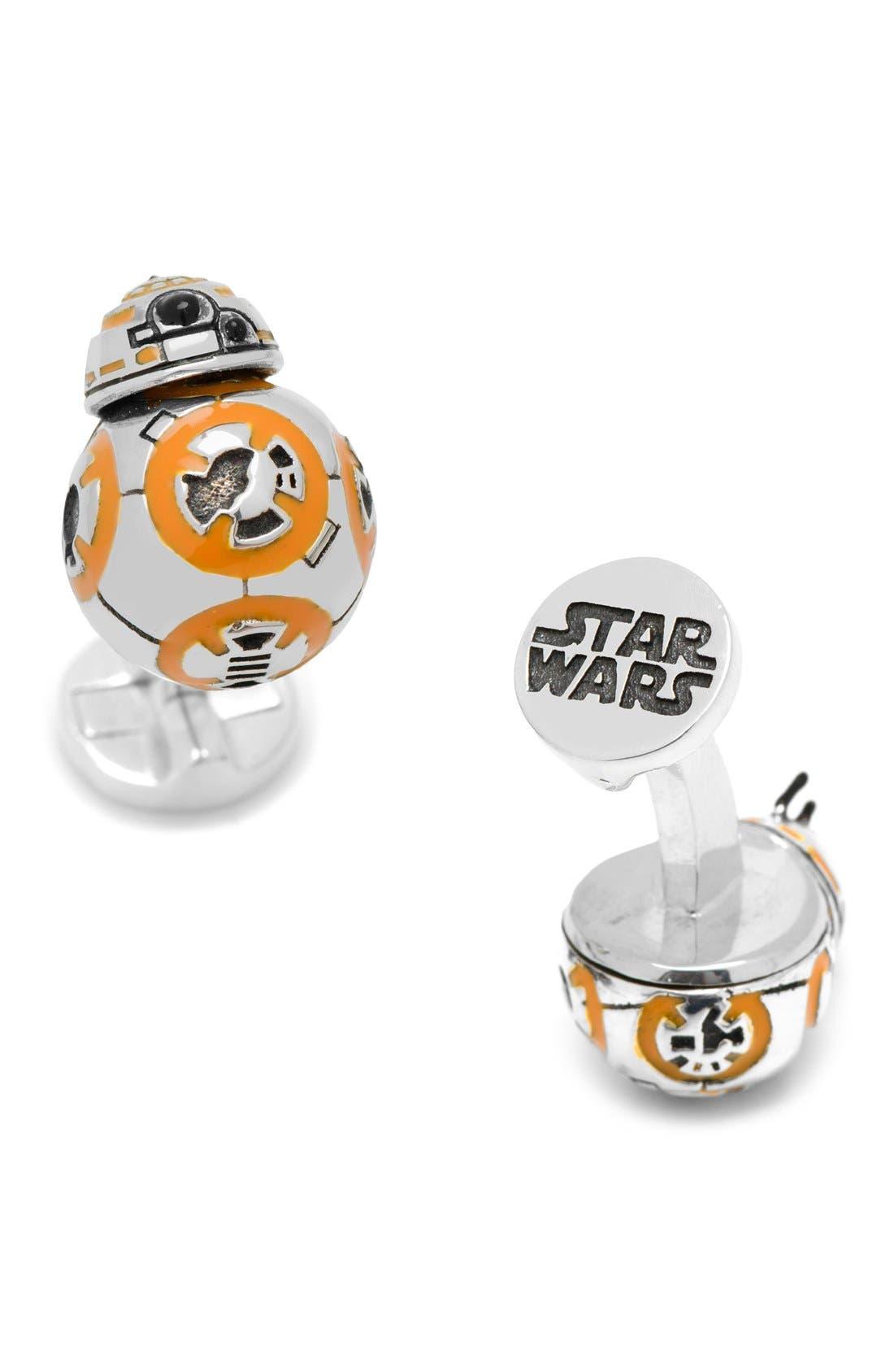 Star Wars BB8 Cuff Links,                             Main thumbnail 1, color,                             Silver Multi