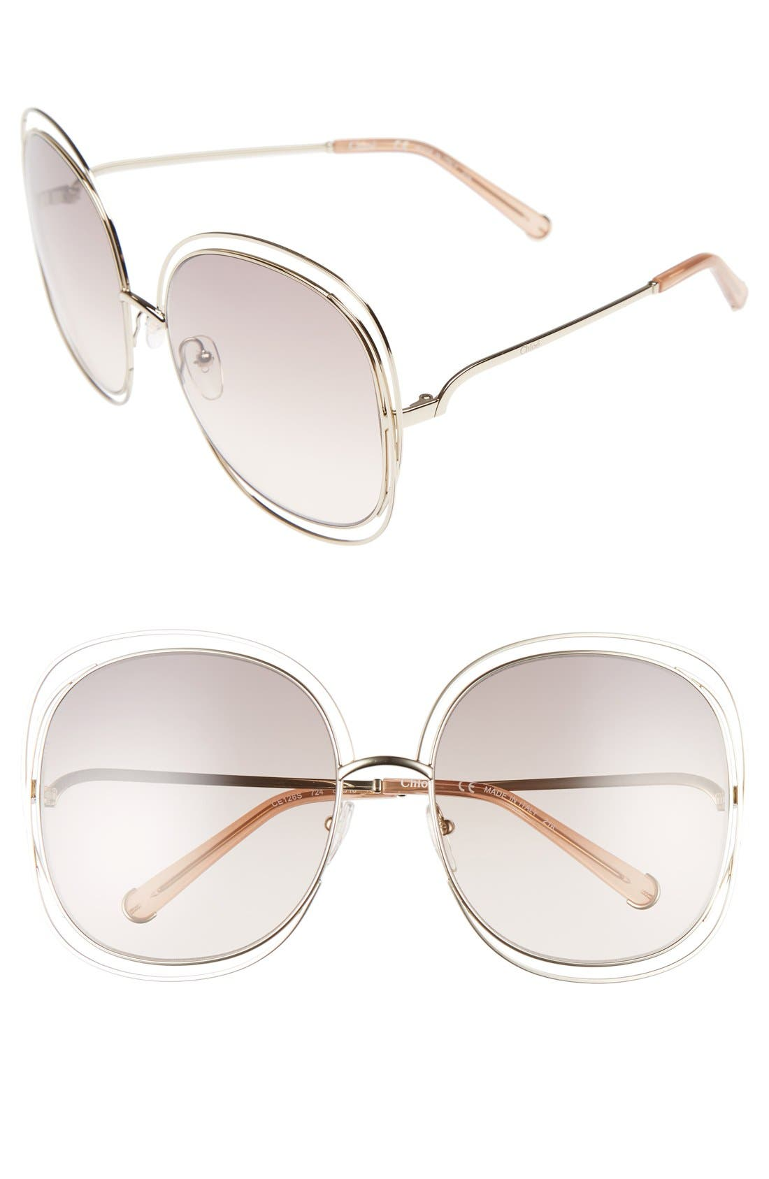 Chloé Carlina 62mm Oversize Sunglasses