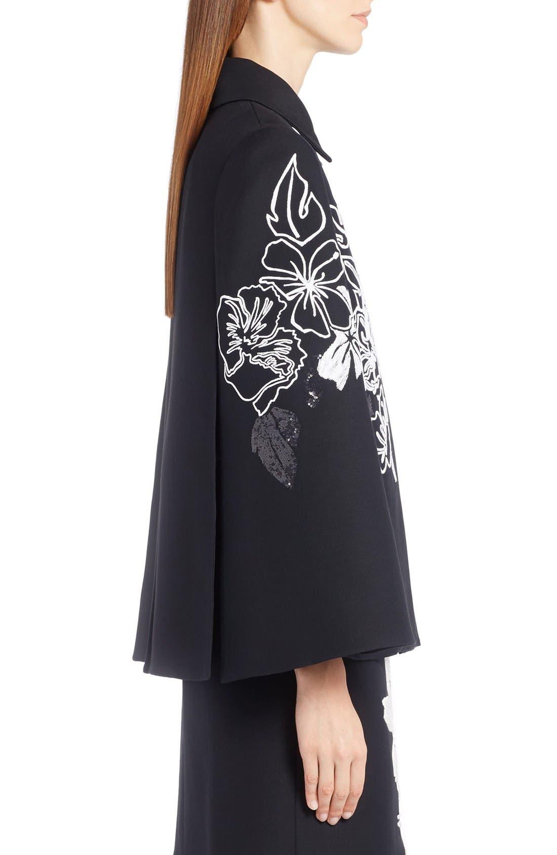 Alternate Image 4  - Fendi Floral Embroidered Wool & Silk Cape