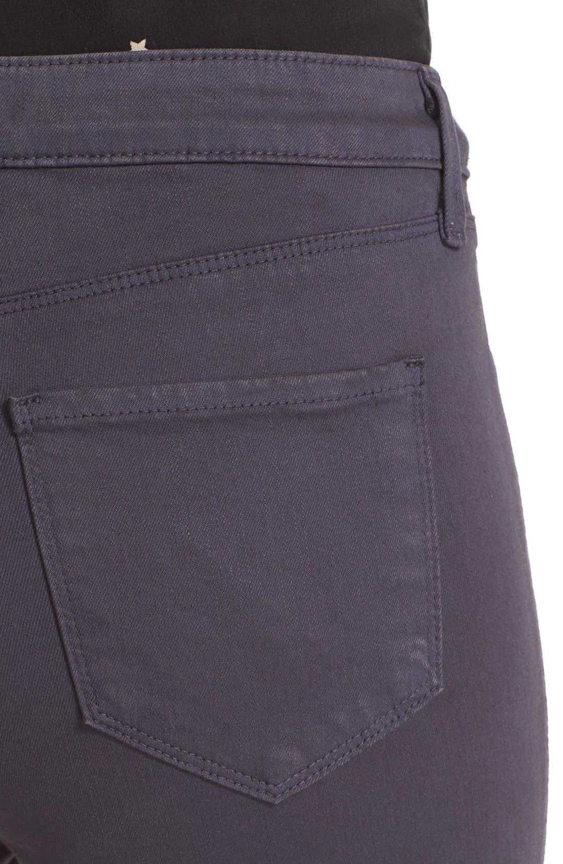 High Waist Skinny Ankle Jeans,                             Alternate thumbnail 5, color,                             Stingray