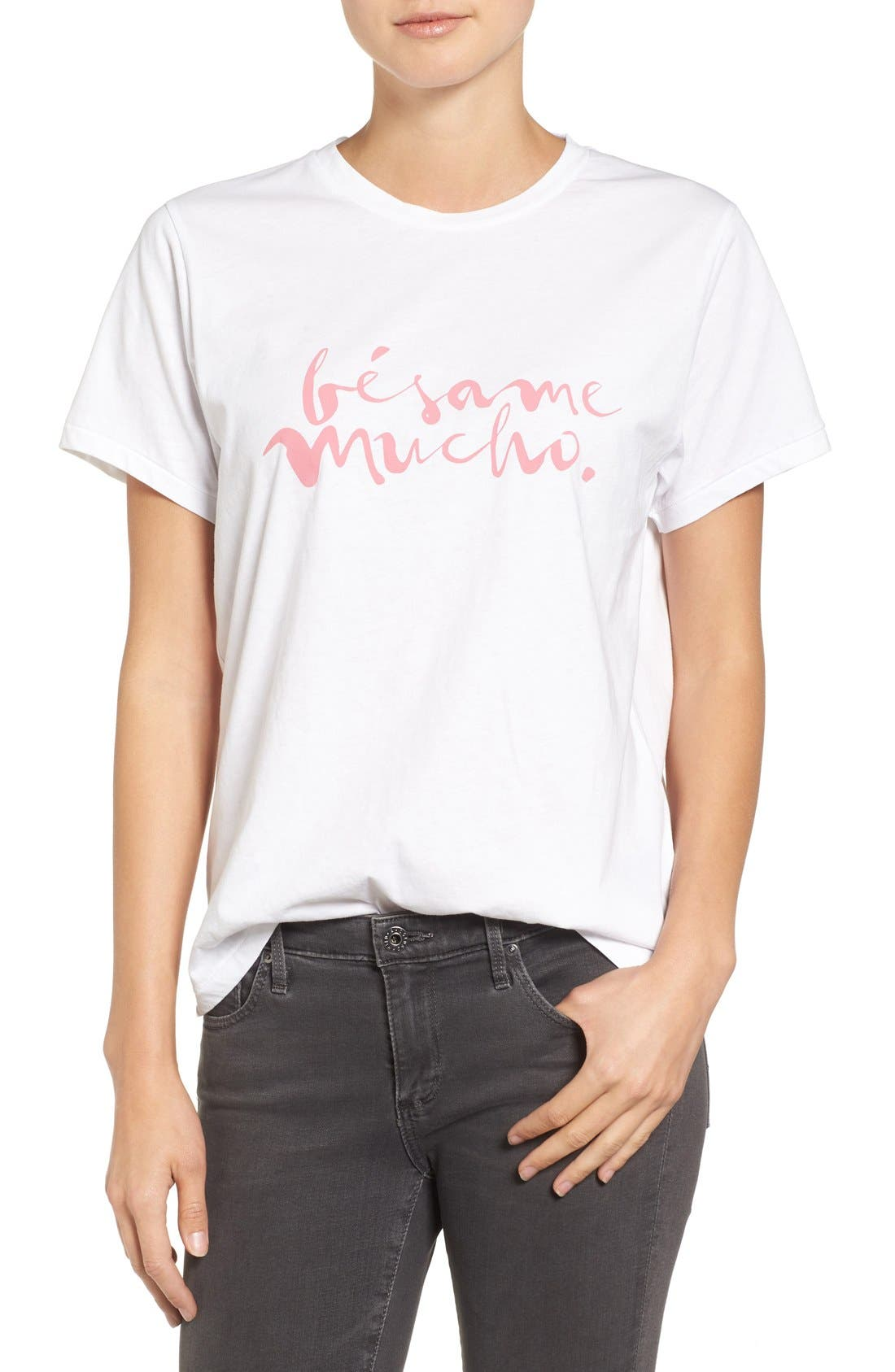 Bésame Graphic Tee,                         Main,                         color, White