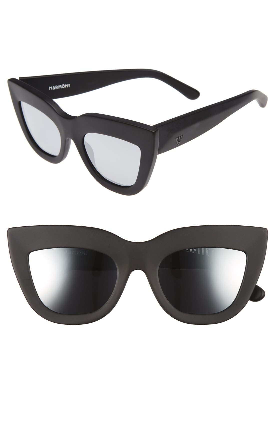 Marmont 52mm Cat Eye Sunglasses,                             Main thumbnail 1, color,                             Matte Black