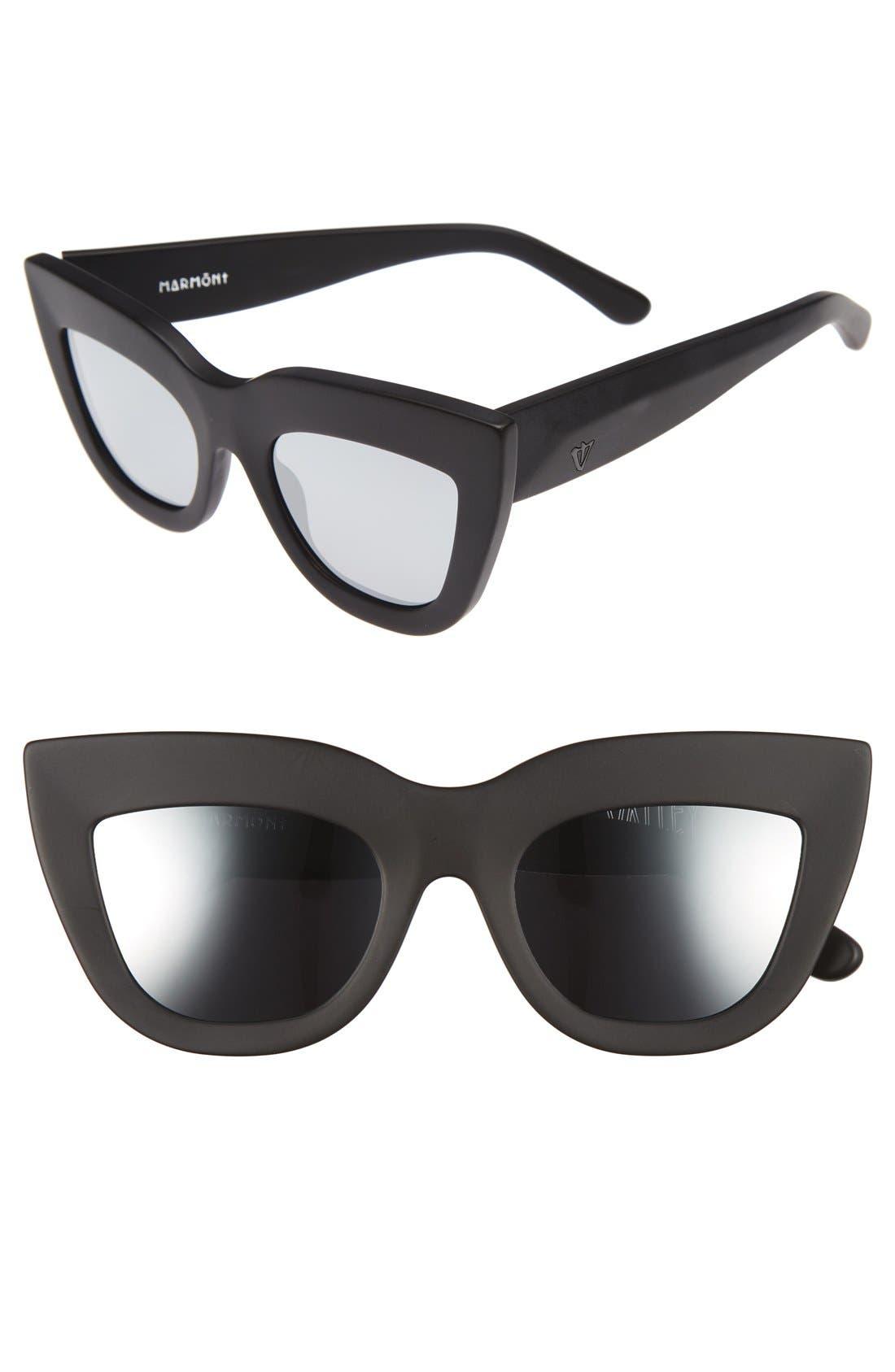Marmont 52mm Cat Eye Sunglasses,                         Main,                         color, Matte Black