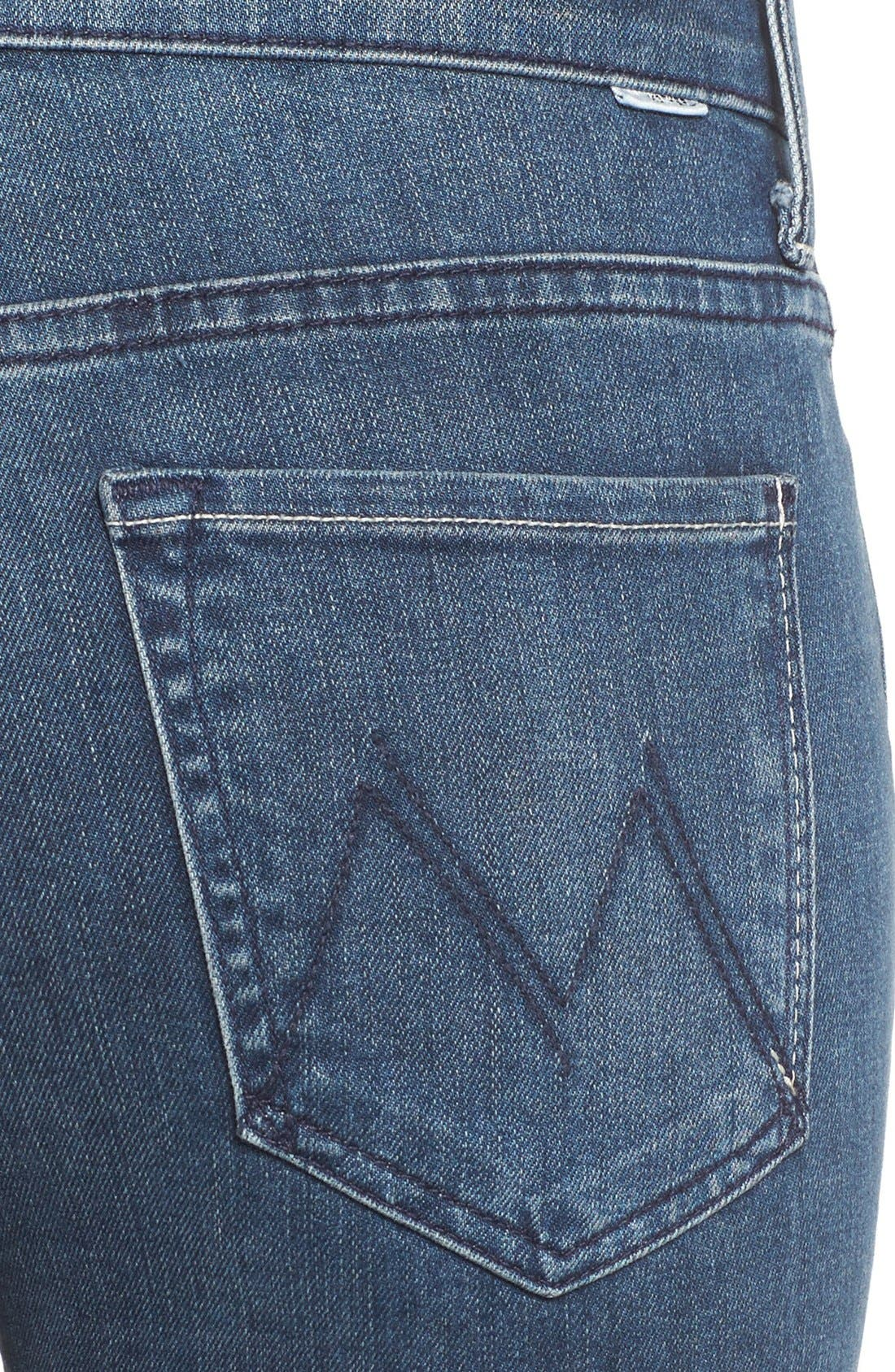 Alternate Image 6  - MOTHER The Insider High Rise Crop Bootcut Jeans (Repeating Love)