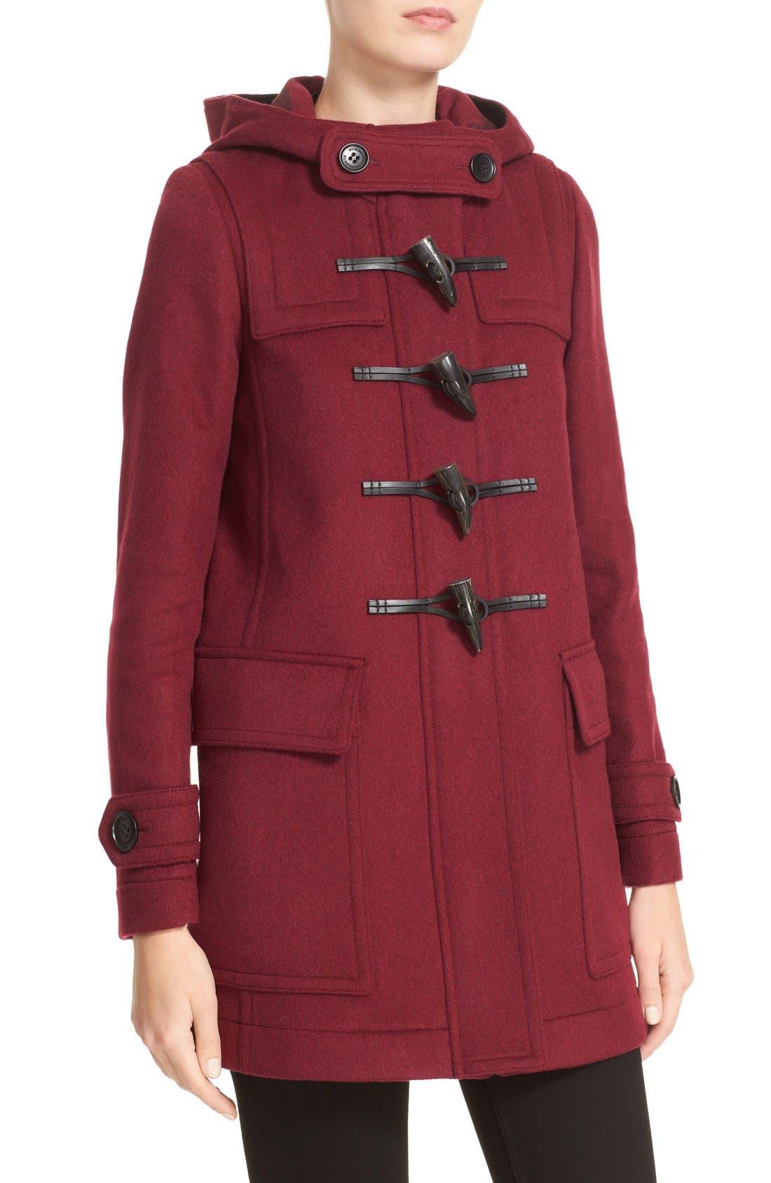 Alternate Image 6  - Burberry 'Baysbrooke' Wool Duffle Coat