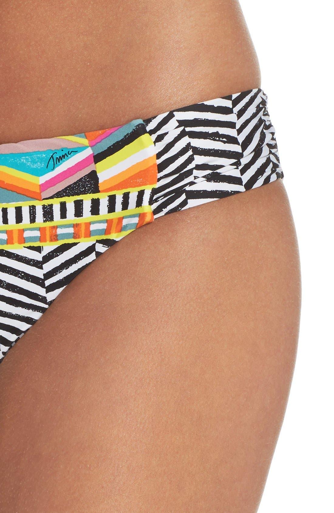 Alternate Image 4  - Trina Turk Brasilia Shirred Hipster Bikini Bottoms