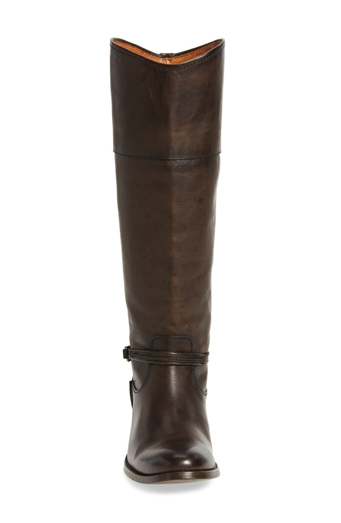 Melissa Seam Boot,                             Alternate thumbnail 3, color,                             Slate Leather