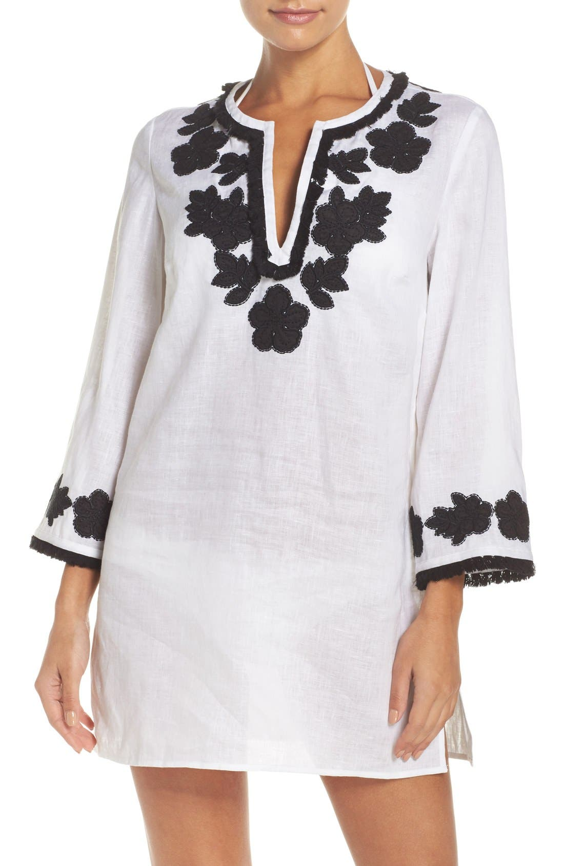 Main Image - Tory Burch Appliqué Cover-Up Tunic