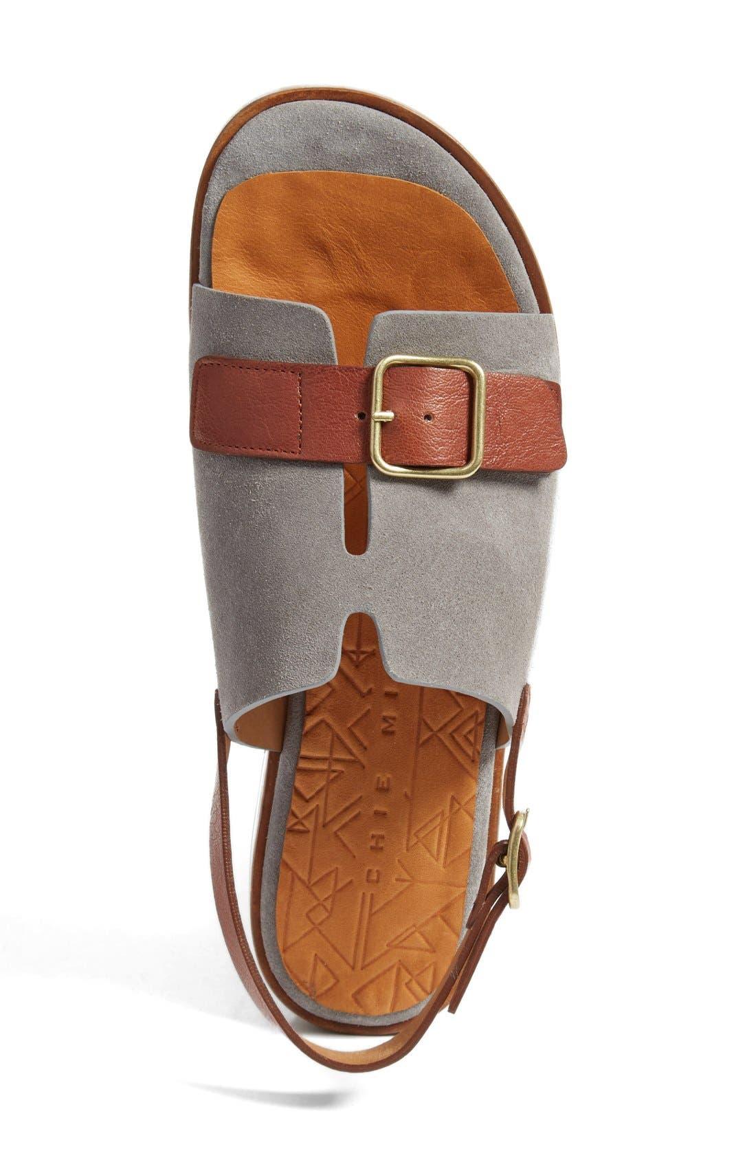 Querete Slingback Sandal,                             Alternate thumbnail 3, color,                             Stone/ Brown