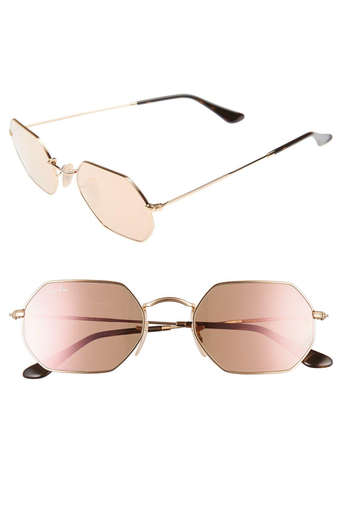Icons 53mm Sunglasses,                         Main,                         color, Copper Flash