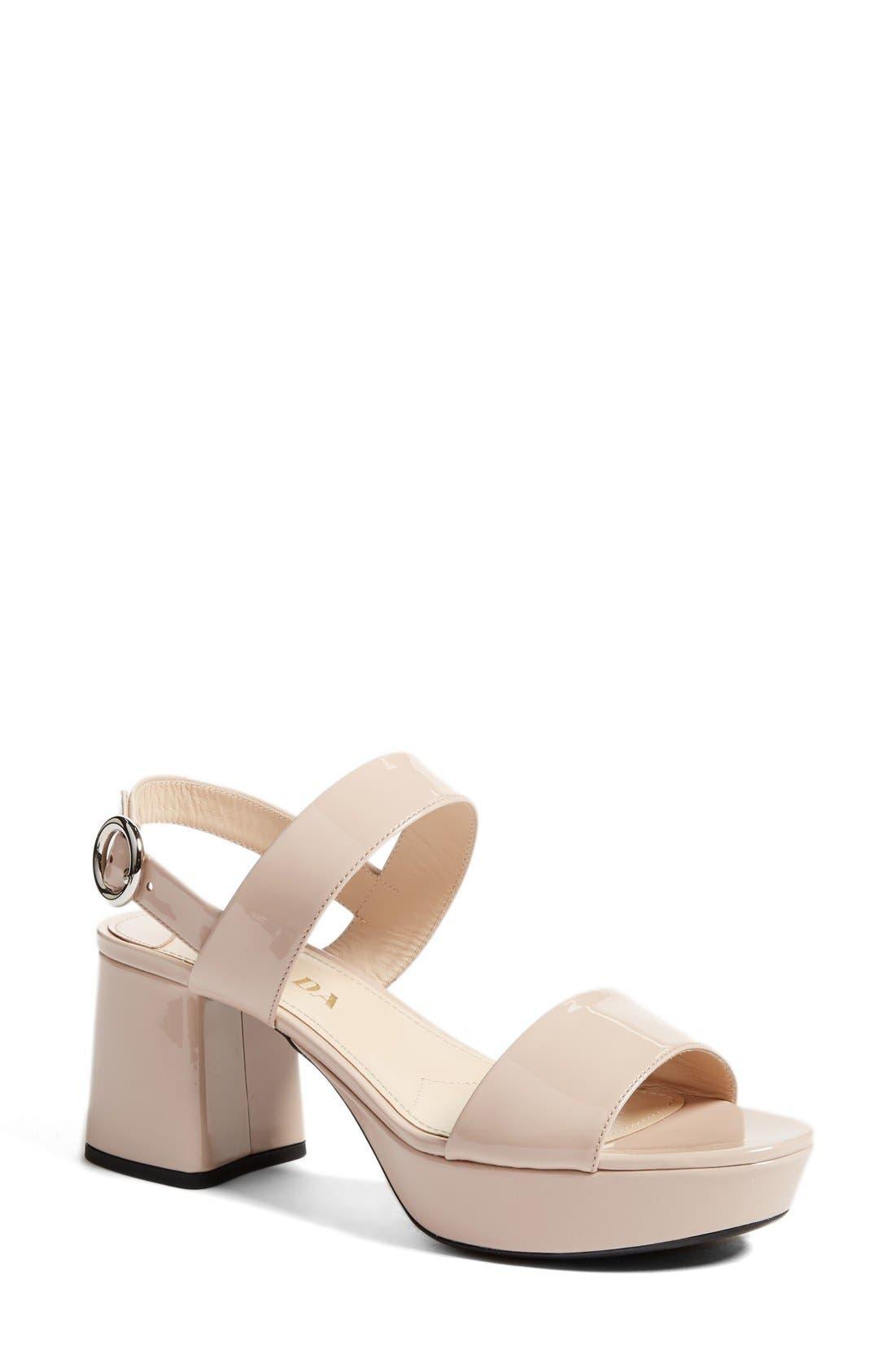 Slingback Platform Sandal,                         Main,                         color, Nude
