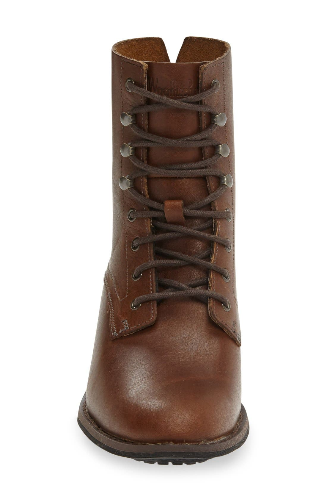 Western Territory Water Resistant Bootie,                             Alternate thumbnail 3, color,                             Ginger Leather