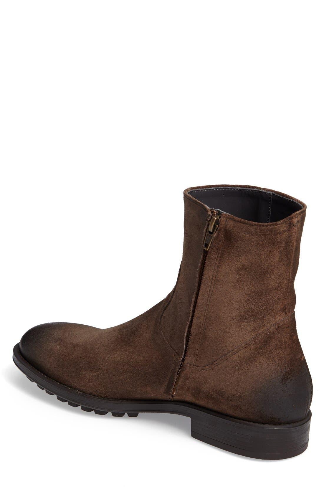 'Harrison' Zip Boot,                             Alternate thumbnail 2, color,                             Brown