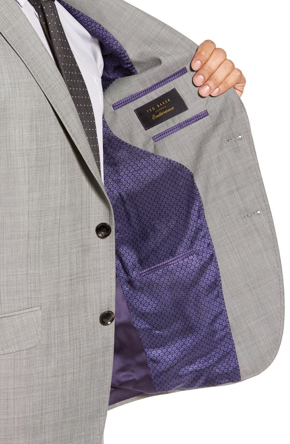 Jones Trim Fit Wool Suit,                             Alternate thumbnail 3, color,                             Medium Grey