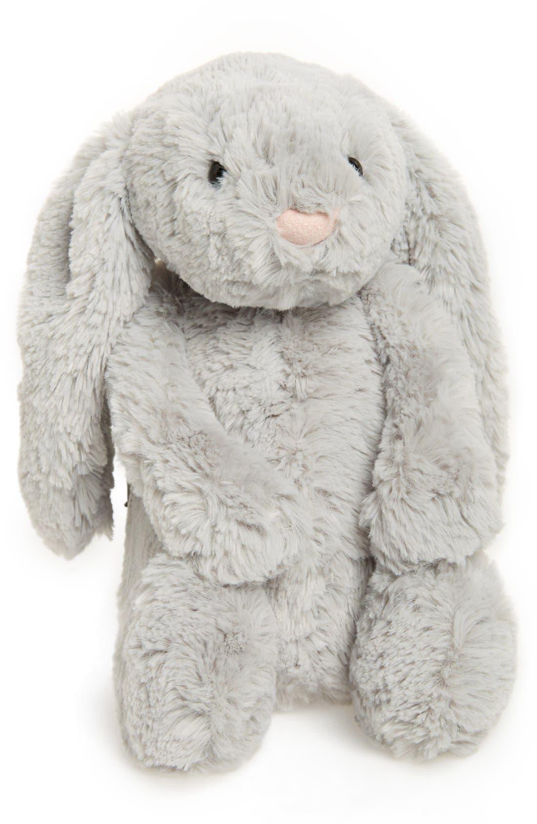 'Bashful Bunny' Stuffed Animal,                         Main,                         color, Grey