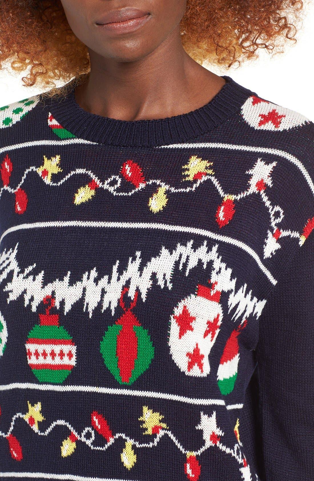 Alternate Image 4  - Cotton Emporium Ornament Christmas Sweater