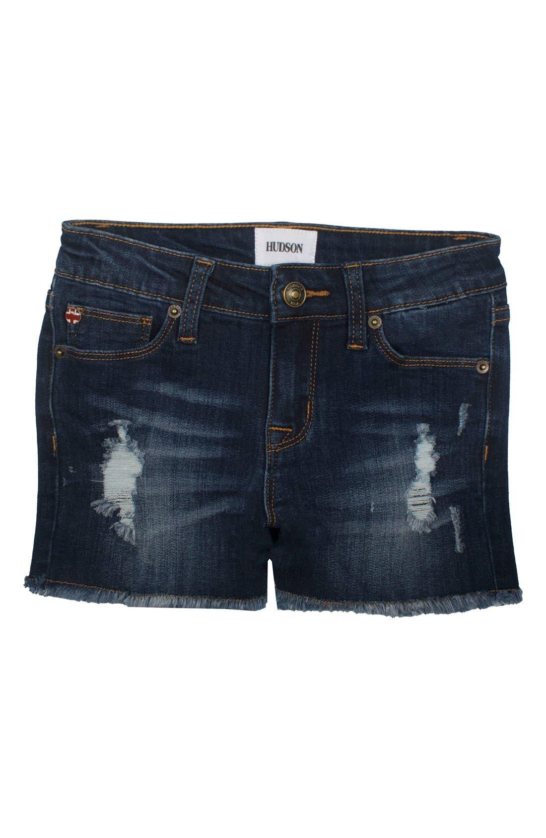 Frayed Shorts,                         Main,                         color, Atlantic B