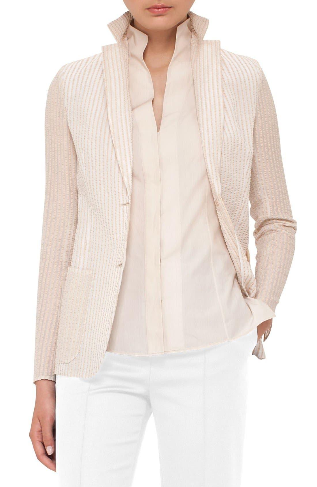 Akris Cotton & Silk Seersucker Jacket