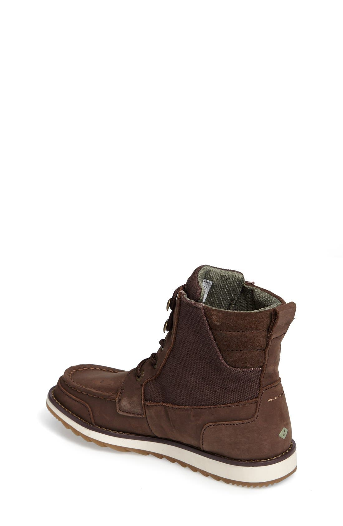 Sperry Dockyard Boot,                             Alternate thumbnail 2, color,                             Brown Faux Leather