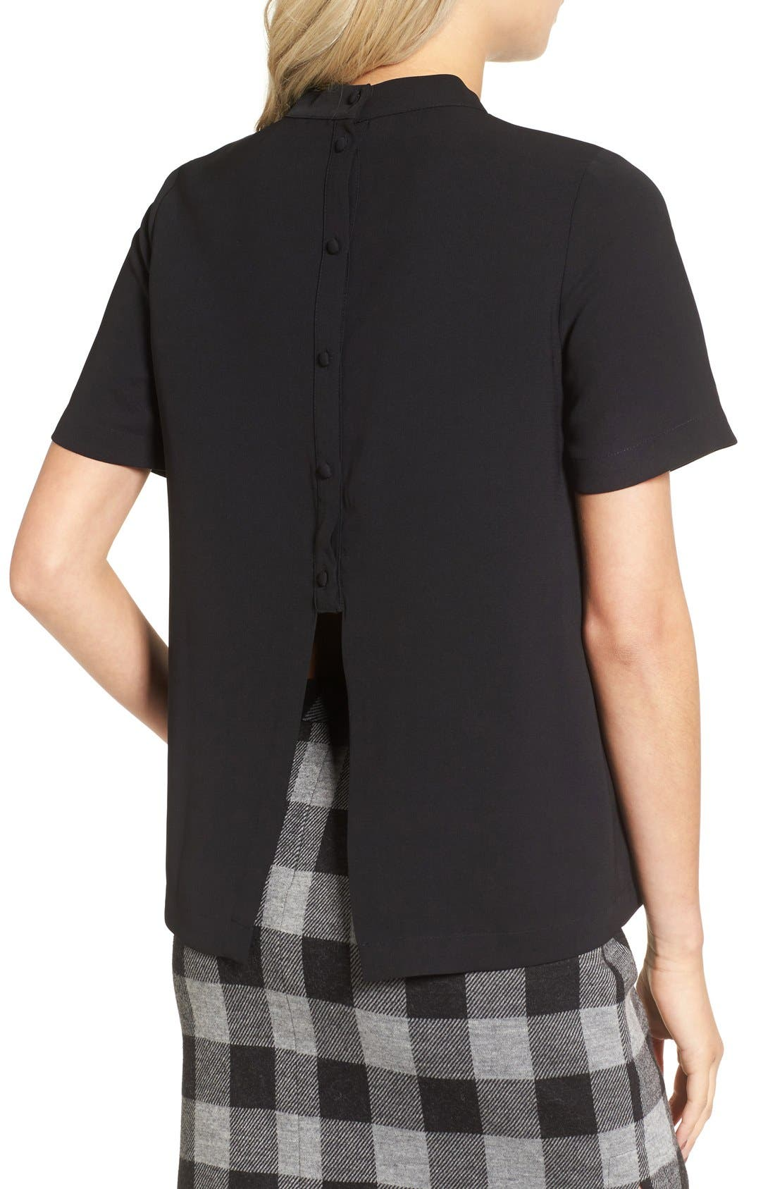 Alternate Image 2  - Madewell Back Button Crepe Tee