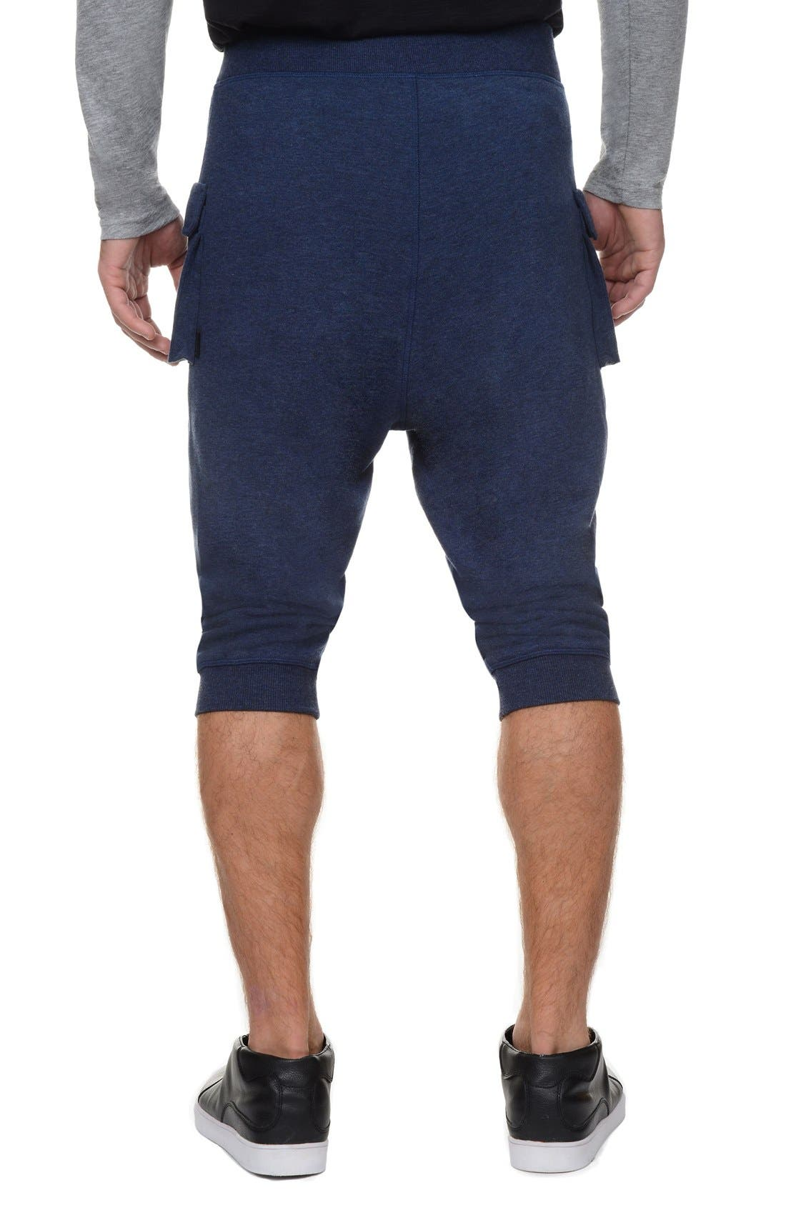 Crop Pants,                             Alternate thumbnail 2, color,                             Denim Heather