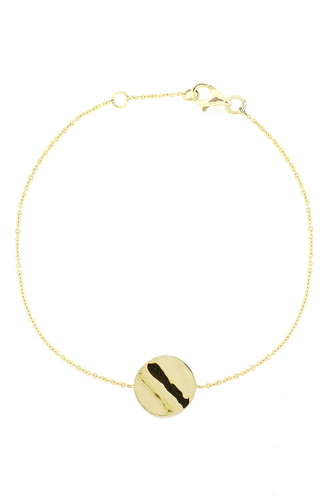 Circle Station Bracelet,                         Main,                         color, Yellow Gold