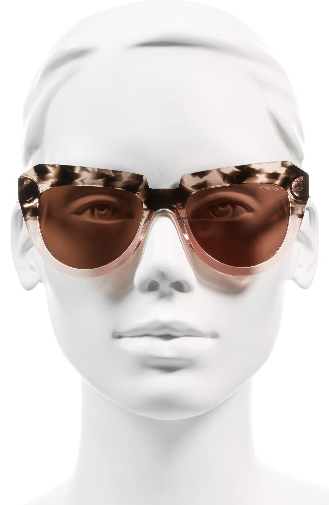 Stella 51mm Sunglasses,                             Alternate thumbnail 2, color,                             Rose Dust