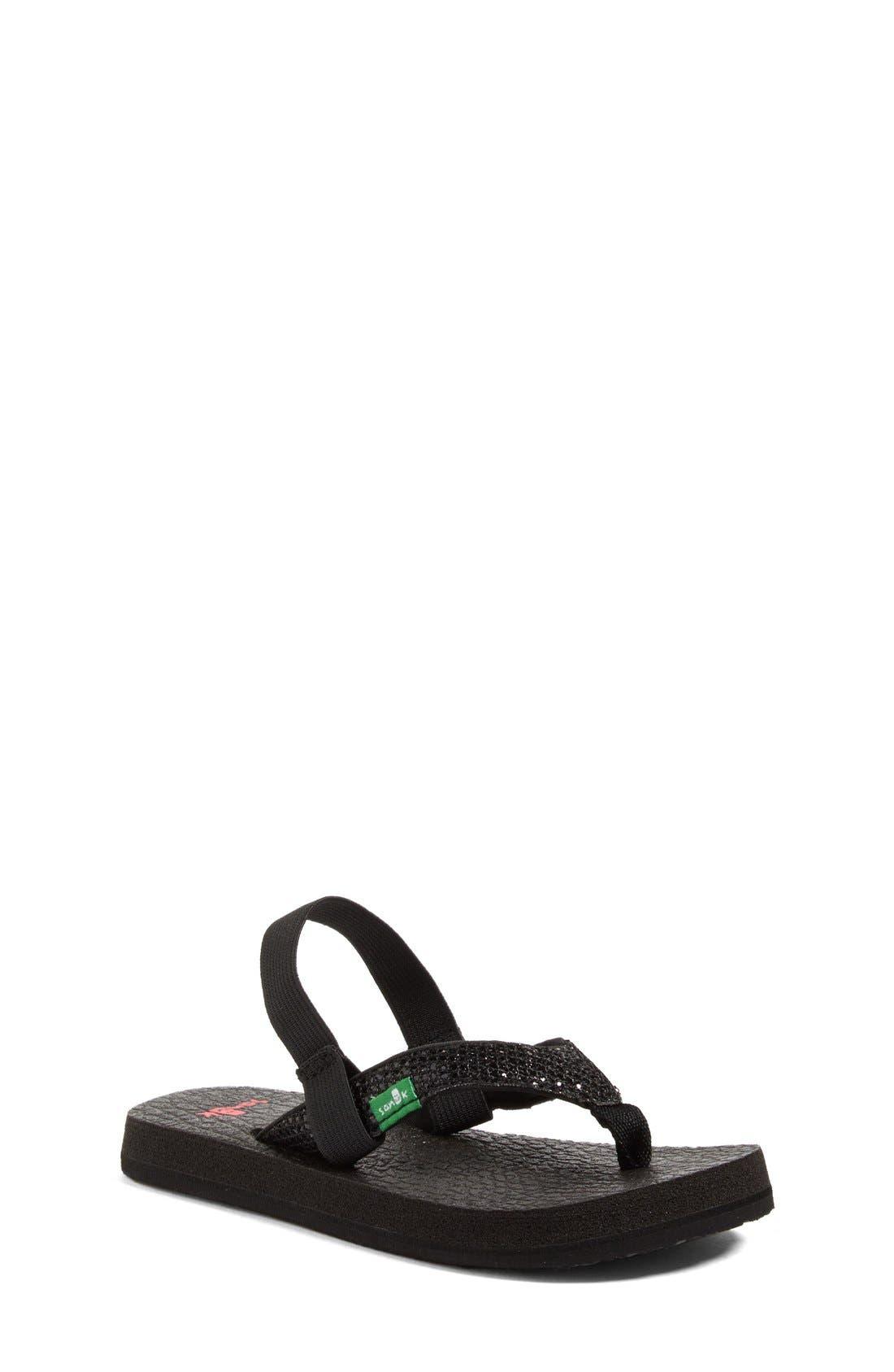 Alternate Image 1 Selected - Sanuk 'Yoga' Glitter Sandal (Toddler, Little Kid & Big Kid)