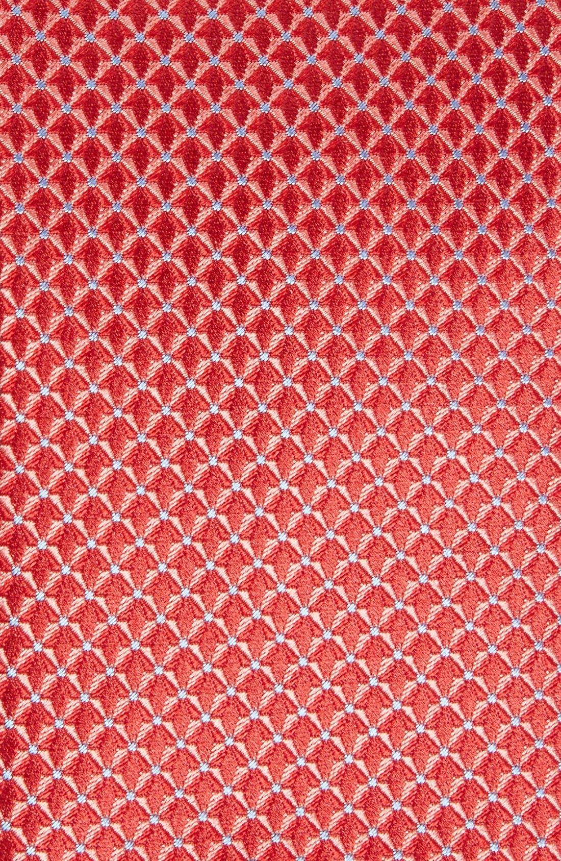 'Grayson Mini' Silk Tie,                             Alternate thumbnail 2, color,                             Red