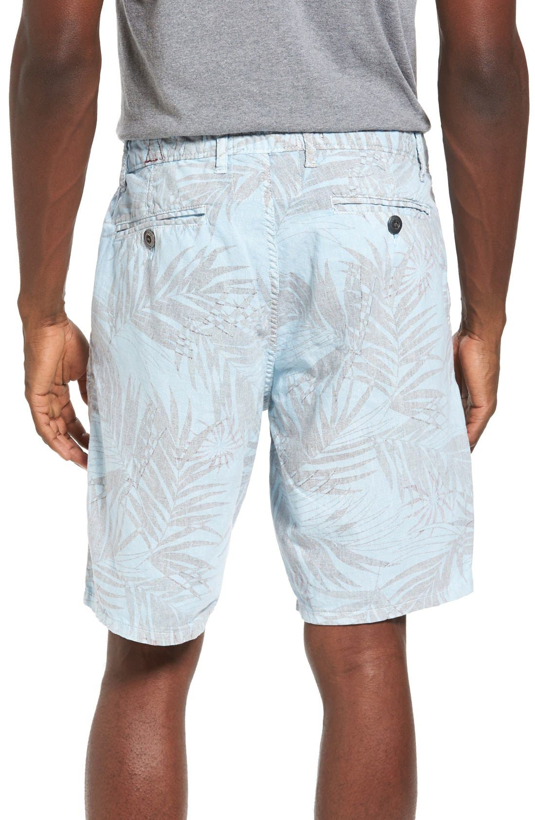 Rio Linen Shorts,                             Alternate thumbnail 2, color,                             Waterfall