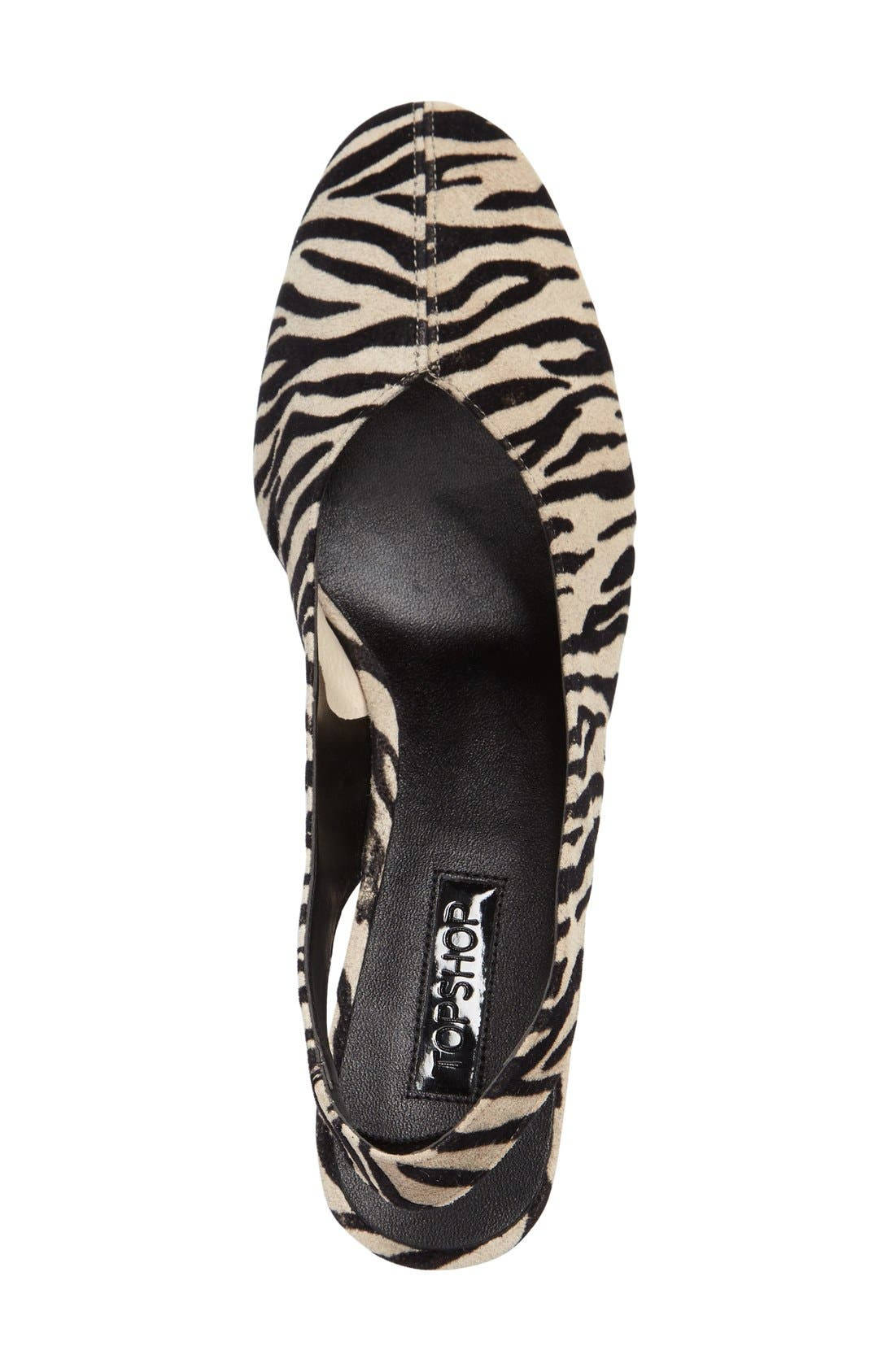 'Jazz' Slingback Pump,                             Alternate thumbnail 3, color,                             Black Multi