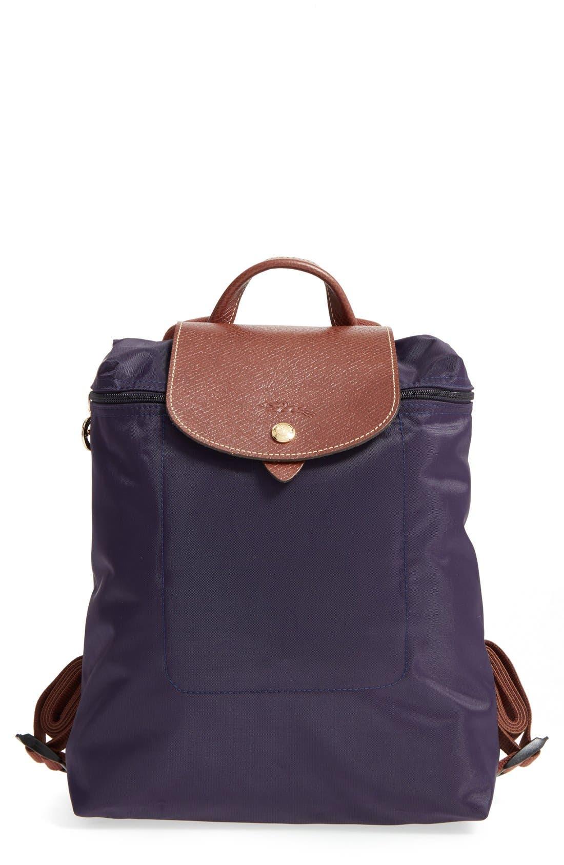 Online Discount Portable Backpack Longchamp Le Pliage Chocolate