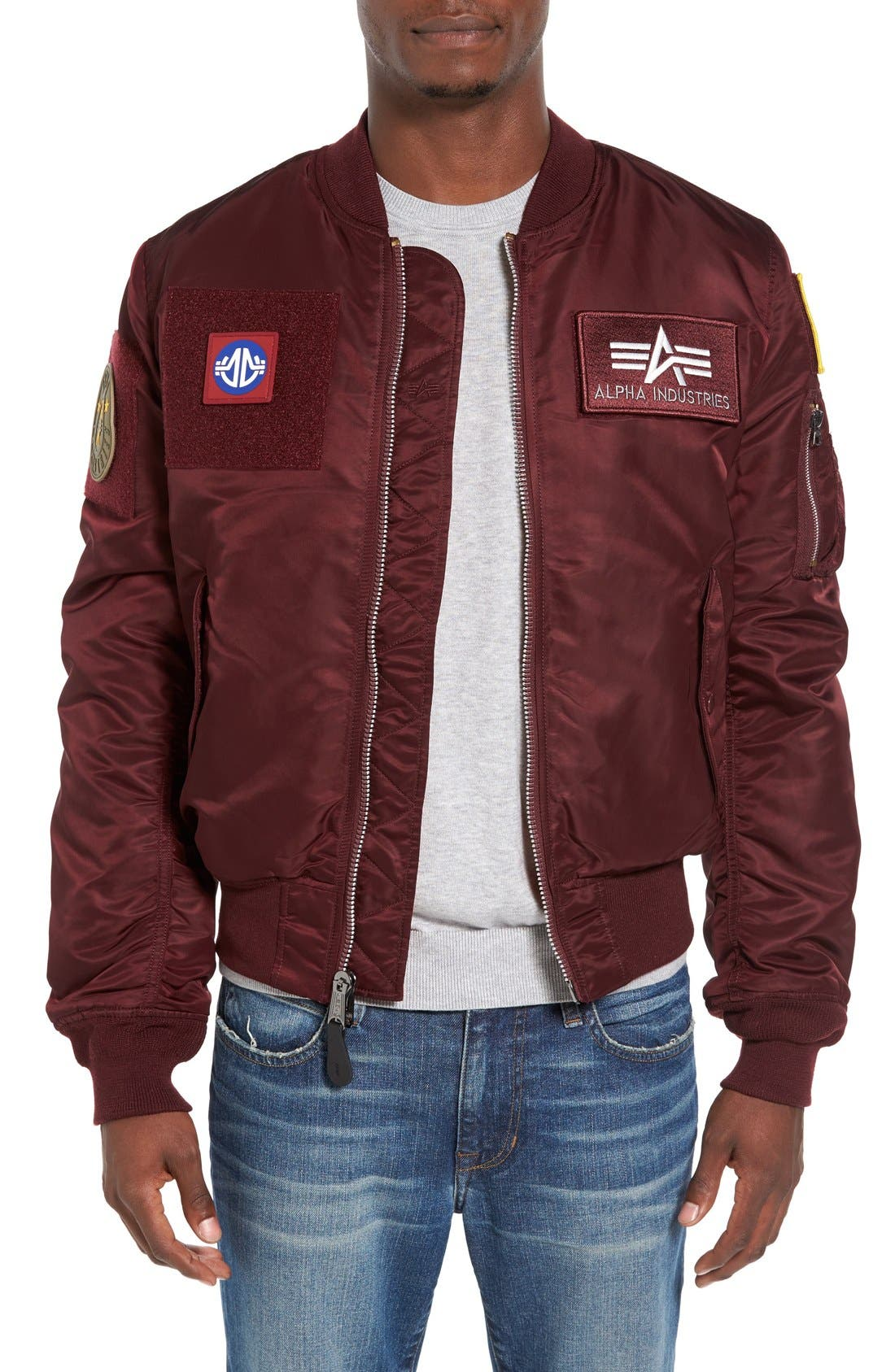 Alpha Industries Reversible Slim Flex MA-1 Bomber Jacket