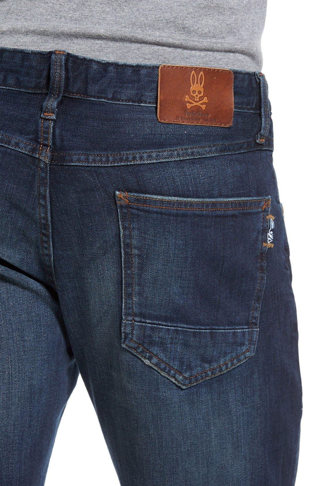 Alternate Image 4  - Psycho Bunny Spitfire Slim Fit Jeans