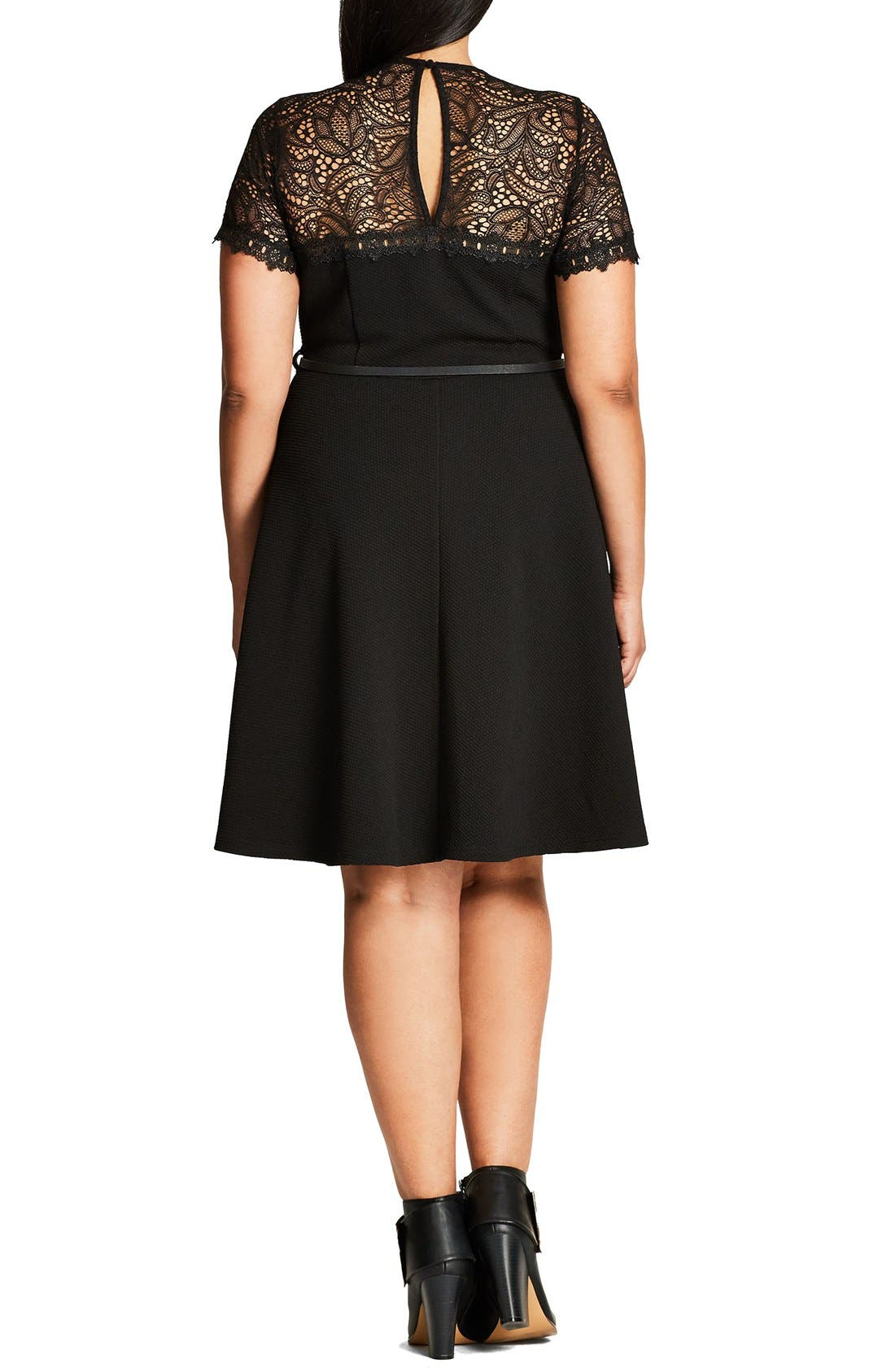 Alternate Image 2  - City Chic Lace Fever Dress (Plus Size)