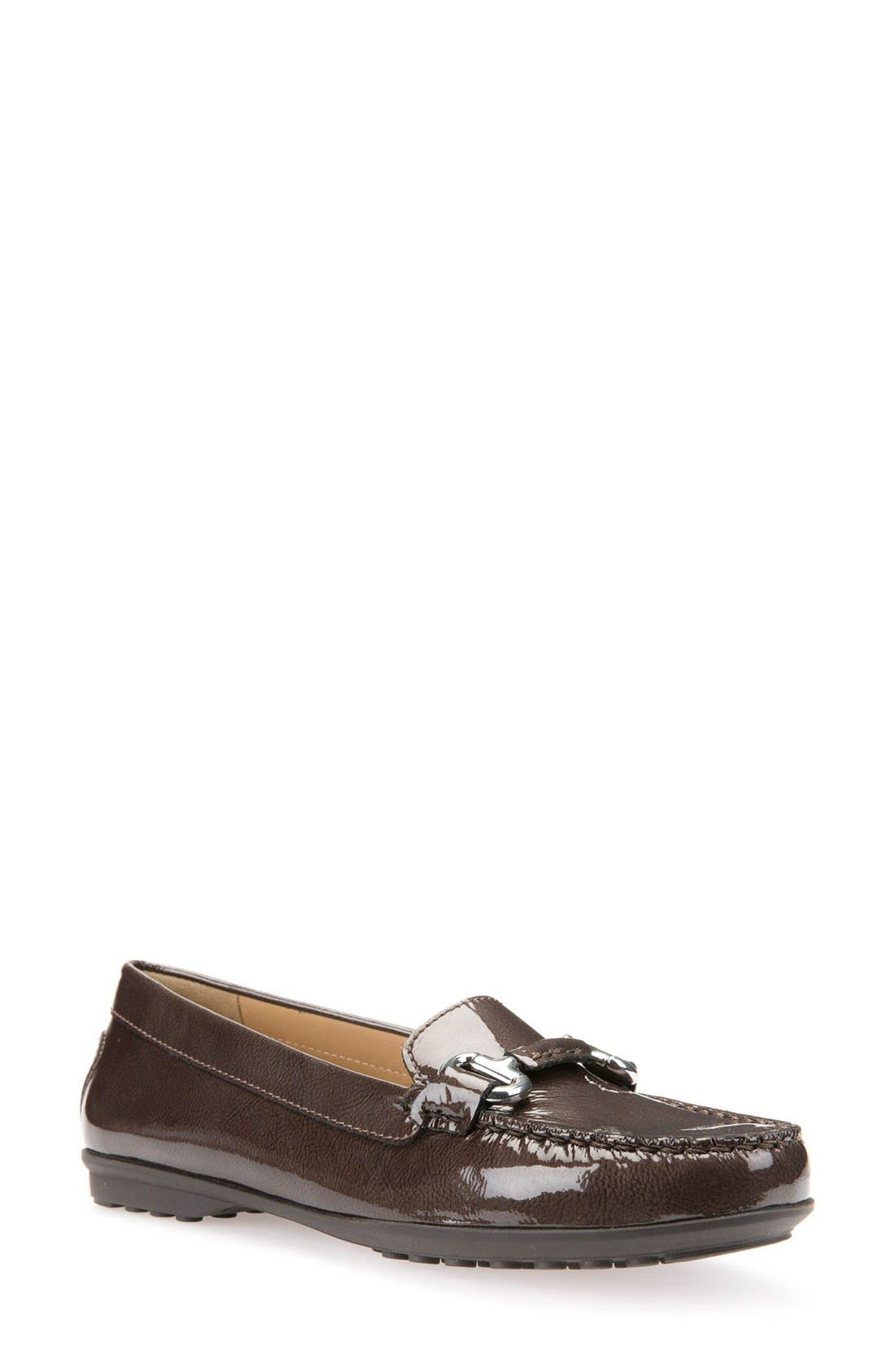 Elidia Bit Water Resistant Loafer,                             Main thumbnail 1, color,                             Chestnut Leather
