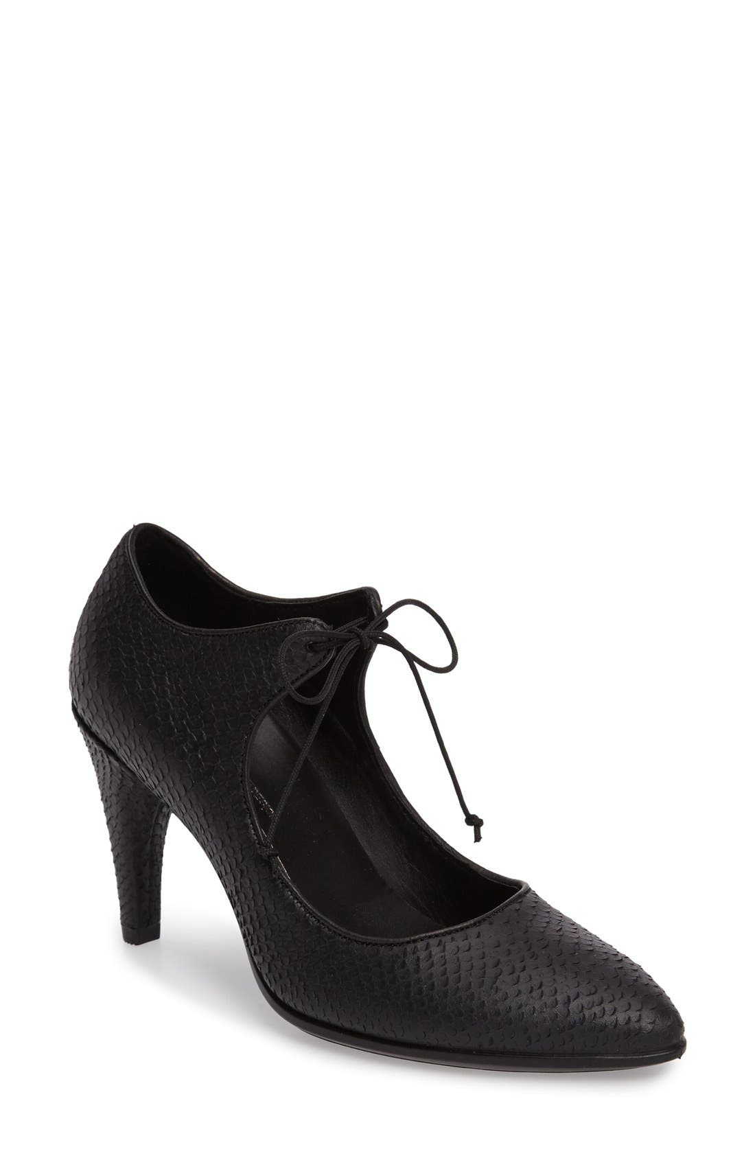 ECCO Shape 75 Lace-Up Mary Jane Pump (Women)